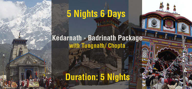 Kedarnath Badrinath Tour Package with Tungnath Ex Haridwar