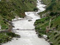Alaknanda River Flowing near Badrinath