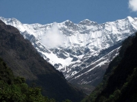 View of Himalayas, 3 kms from gaurikund towards Kedarnath