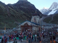 Kedarnath Temple in evening