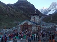 Kedarnath Temple in evening