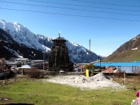 Kedarnath Temple from backside