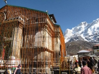 Kedarnath Temple on Opening day