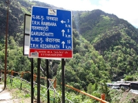 Milestone on the way to Kedarnath