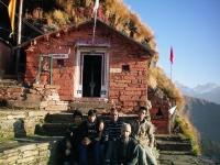 Pilgrims in front of Rudranath Mandir
