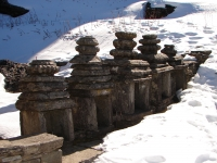 Small temples close to Tungnath