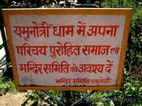 Signboard near Yamunotri