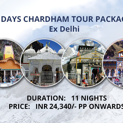 Chardham Package ex Delhi 11 Nights