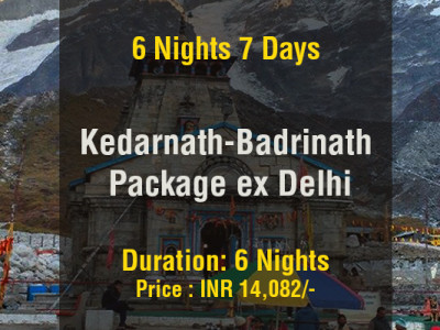 6 Nights Kedarnath Badrinath Do Dham Package ex Delhi