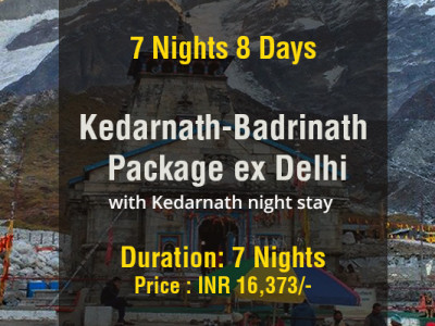 7 Nights Kedarnath Badrinath Do Dham Package with Kedarnath Night stay