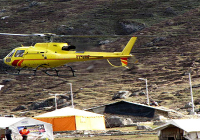 Four Heli companies shut down their services in Kedarnath