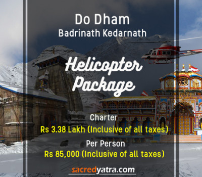Do Dham Badrinath Kedarnath Helicopter Tour from Dehradun