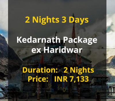2 Nights 3 Days Kedarnath Package ex Haridwar
