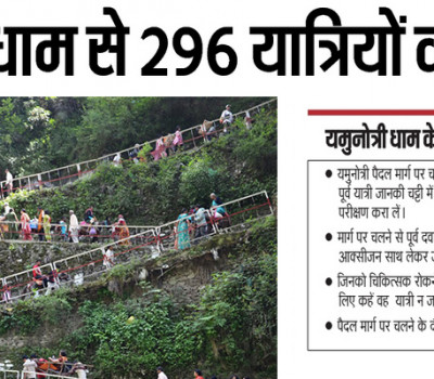 296 pilgrims stopped from visiting Yamunotri Dham