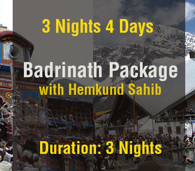 3 Nights Badrinath Package with Hemkund Sahib