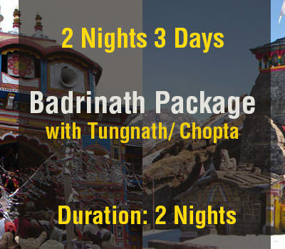 2 Nights Badrinath Package with Tungnath Temple Ex Haridwar