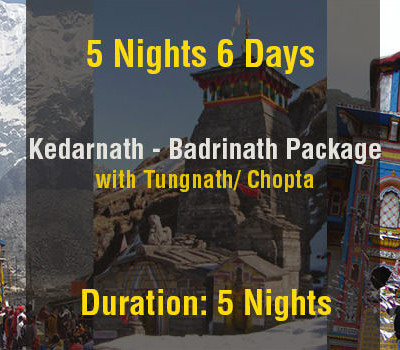5 Nights Kedarnath Badrinath Do Dham Package with Tungnath Ex Haridwar