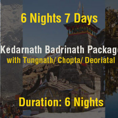 6 Nights Kedarnath Badrinath Do Dham Package with Tungnath & Deoriatal Ex Haridwar
