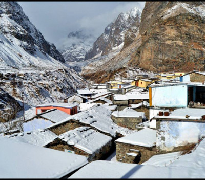 Snowfall in Badrinath and Kedarnath Dham