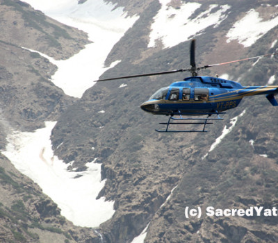 Lesser Pilgrims affects Chopper Business in Kedarnath
