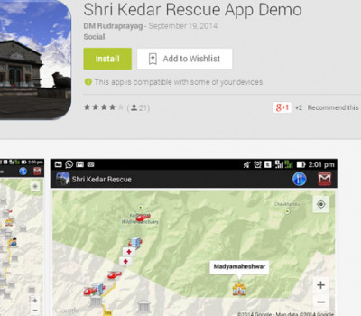 Kedarnath weather updates on Mobile Phone