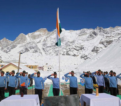 Republic Day Celebrated in Kedarnath