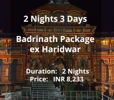 2 Nights 3 Days Badrinath Package ex Haridwar