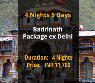 4 Nights 5 Days Badrinath Package ex Delhi