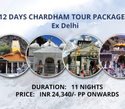 12 Days Chardham Tour Package From Delhi