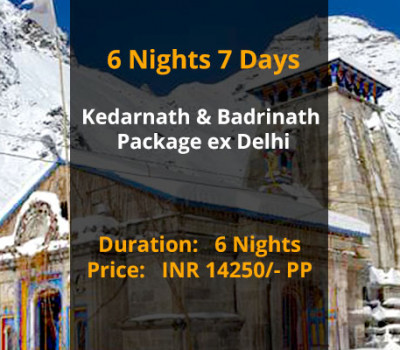 6 Nights 7 Days Kedarnath Badrinath Do Dham Package ex Delhi