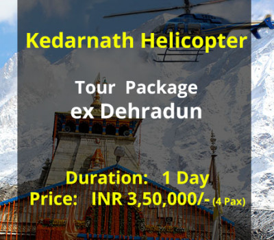 Kedarnath Helicopter Tour Package ex Dehradun