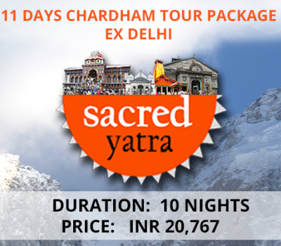 11 Days Chardham Tour Package ex Delhi