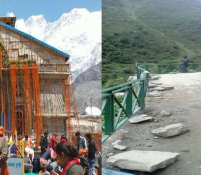 Siderailings on Kedarnath trek route