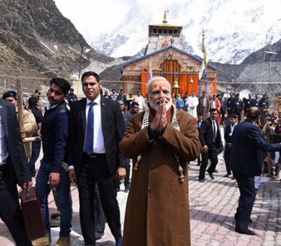 PM Modi visit Kedarnath on closing day