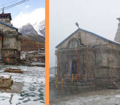 Kedarnath Receives First Snowfall of Season