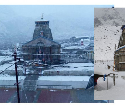Kedarnath again covered in sheet of snow