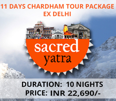 11 Days Chardham Tour Package From Delhi