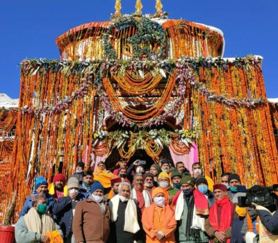 UP CM Yogi performs special pooja in Badrinath, Lays Foundation Stone for Badrinath Guesthouse