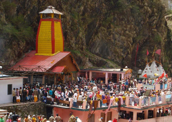Portals of Yamunotri Temple Closed for winters