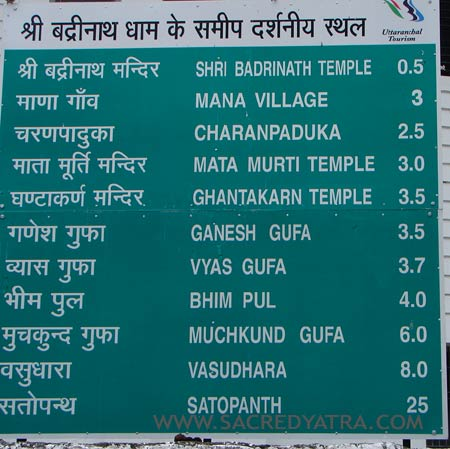 Badrinath Sightseeing - Places to see