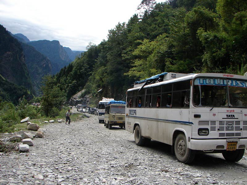 Bus going to Badrinath Dham