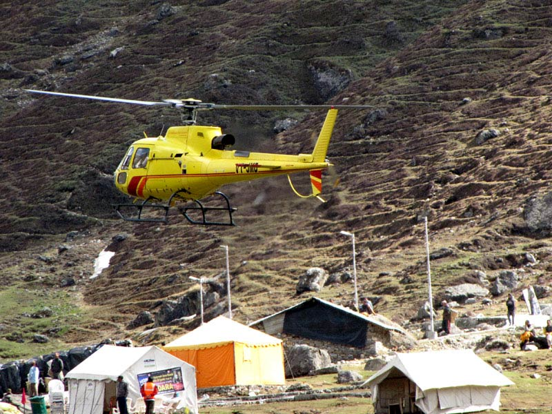 Helicopter service in Kedarnath