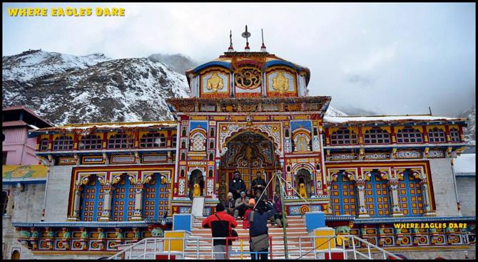 Team at Badrinath Temple