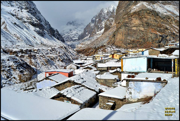 Badrinath in Snow