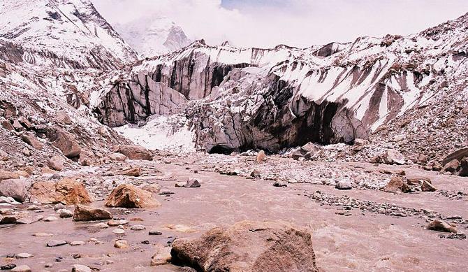 Gaumukh - the Gangotri Glacier