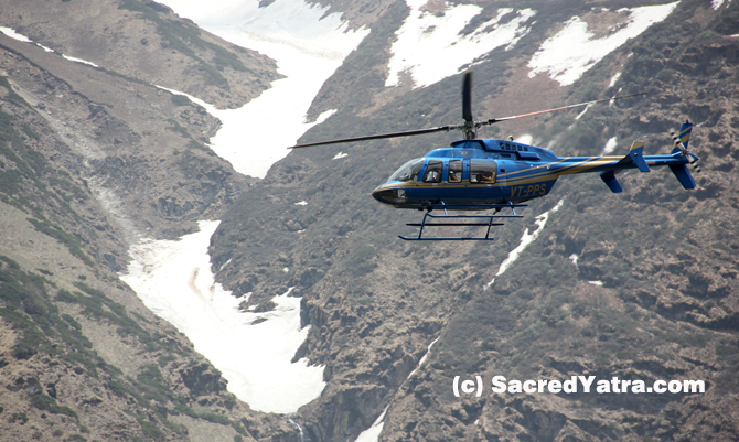 Helicopters in Kedarnath