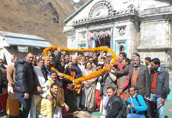 Uttarakhand CM in Kedarnath