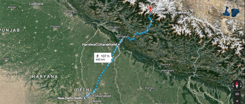 Delhi to Kedarnath