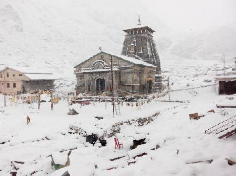 Latest Kedarnath Winter Snowfall