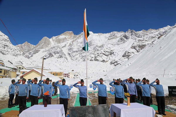 NIM Team at Kedarnath during Republic Day